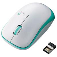 エレコム ワイヤレスLEDマウス グリーン M-IR07DRGN(10セット)