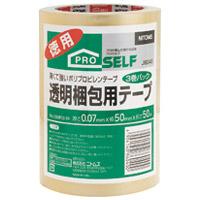 ニトムズ 透明梱包テープ3巻 J6040(10セット)
