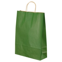 50 pieces of ベルベ carrier bag T-8 1864 green (ten sets) ベルベ 手提袋 T-8 1864 緑 50枚 4985863018644(10セット)