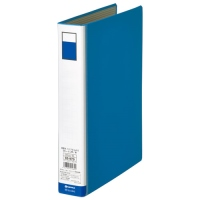 ジョインテックス パイプ式ファイル両開き青10冊 D053J-10BL(5セット), ねっこの福や bf9a1fe4