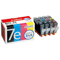 キヤノン インクカートリッジ BCI-7E 4MP 4色(5セット)
