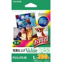 富士フィルム 画彩 写真仕上げValue WPL200VA L判 200枚(10セット)