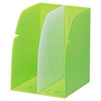 LIHITLAB ブックスタンド G1620-6 黄緑(10セット)