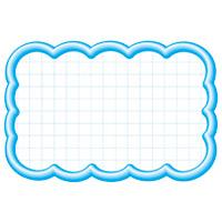 タカ印 抜型カード 限定品 16-4117 ブルー 激安特価品 雲形中 150セット
