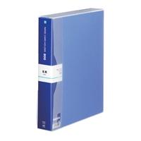 テージー 名刺ホルダー NC-802-02 A4S 800名 青(10セット)