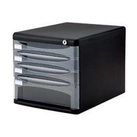 ナカバヤシ デスクトップ4段 A4-SK4D ブラック(5セット)