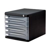 ナカバヤシ デスクトップ5段 A4-SK5D ブラック(10セット)
