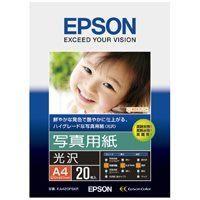 エプソン 写真用紙 光沢 KA420PSKR A4 20枚(10セット)