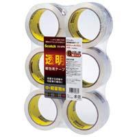 スリーエムジャパン 透明梱包用テープ 6巻 313 6PN(10セット)