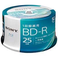 SONY 録画用BD-R25GBスピンドル50枚 50BNR1VJPP4(10セット)