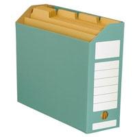 ジョインテックス ボックスファイル ヨコ型緑10冊 D044J-GR(10セット)
