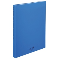 LIHITLAB クリヤーブック交換式 N-5016-8 A4S 青(10セット)