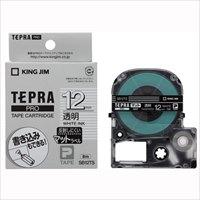 キングジム テプラPROテープマット透明/白文字SB12TS(10セット)