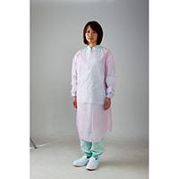 川西工業 ポリエチレン袖付エプロン ピンク(10セット)
