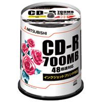 三菱化学 データ用CD-R 100枚入り SR80PP100(10セット)