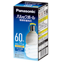 Panasonic 電球型蛍光灯 D60形 昼光色 EFD15ED11EE17(5セット)