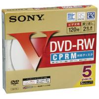 SONY 録画用DVD-RW 5枚 5DMW12HPS(10セット)