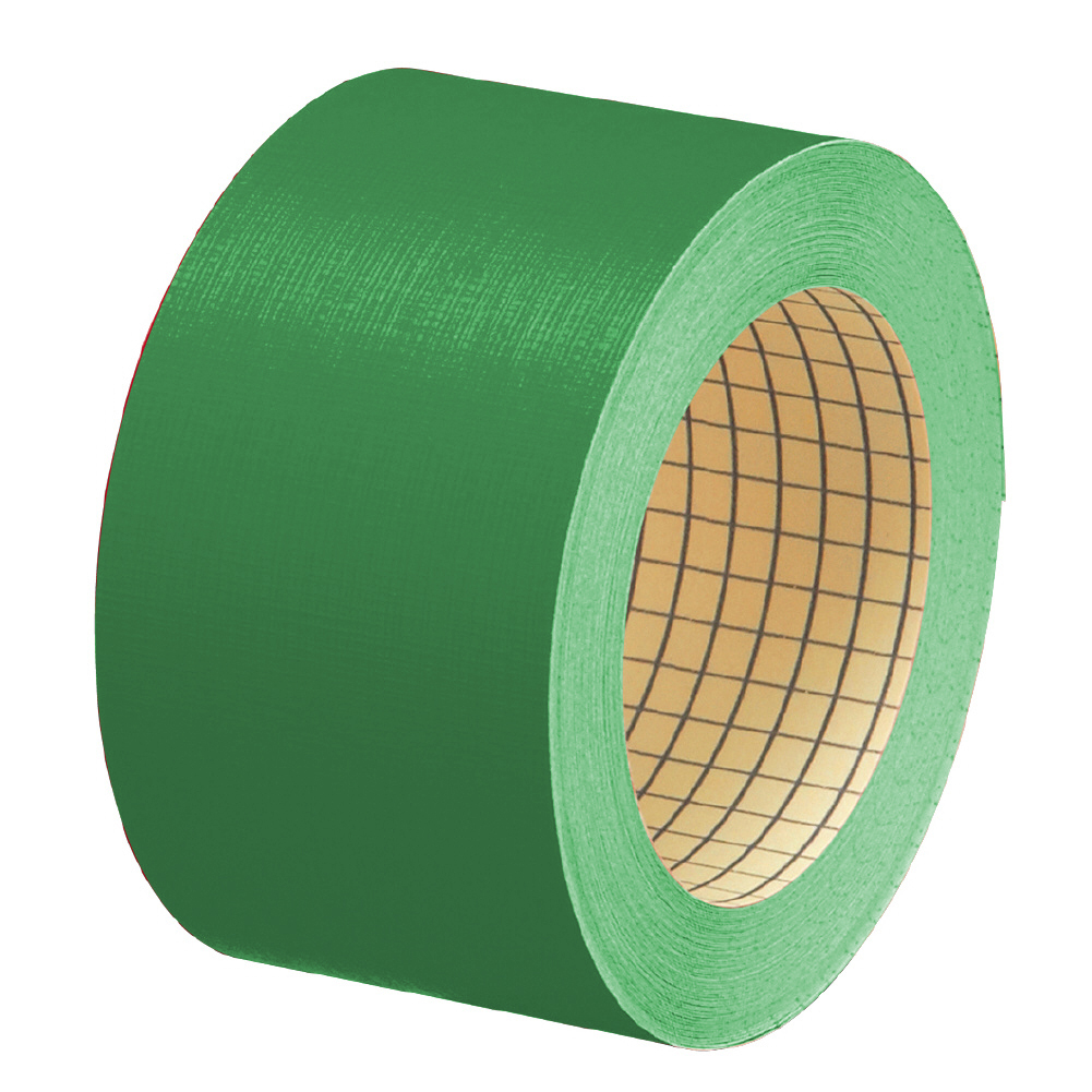 プラス 紙クロステープ AT-050JC 50mm×12m 緑(10セット)