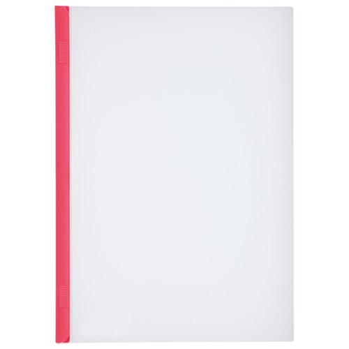 LIHITLAB スライドバーファイル G1720-3 赤 10冊 4903419177805(10セット)