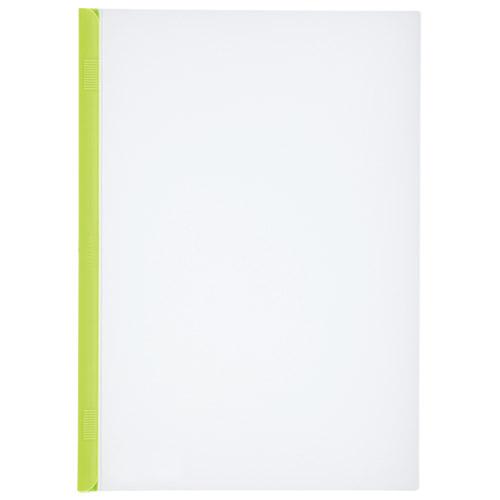 LIHITLAB スライドバーファイル G1720-6 黄緑 10冊 4903419177829(10セット)