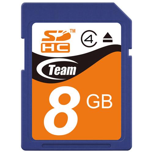 TEAM SDHCカード 8GB TG008G0SD24X 4580209531452(10セット)