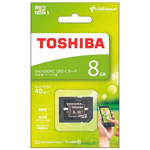 東芝 microSDHCカード 8GB MSDAR40N08G 4562131647760(10セット)