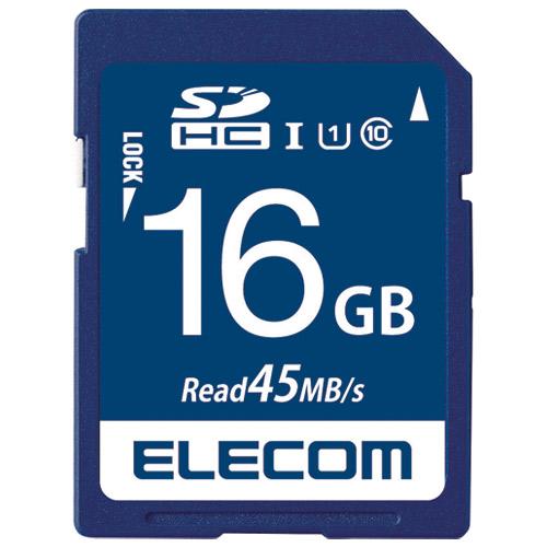 エレコム SDHCメモリカード 16GB MF-FS016GU11R 4953103319899(10セット)