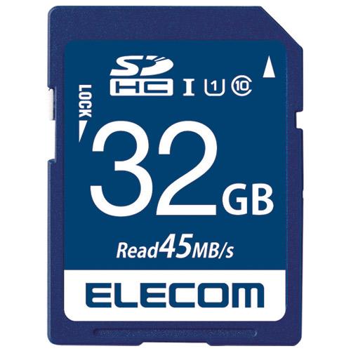 エレコム SDHCメモリカード 32GB MF-FS032GU11R 4953103319912(5セット)