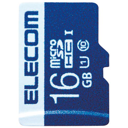 エレコム microSDHCカード 16GB MF-MS016GU11R 4953103320093(10セット)