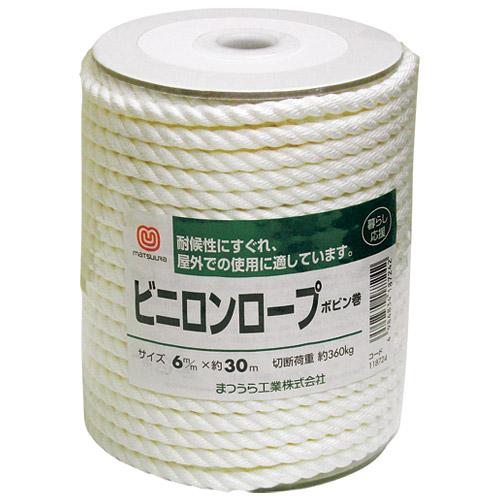 松浦工業 ビニロンロープ ボビン巻 118724 4984834187242(10セット)