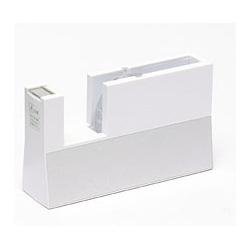 ニチバン テープカッター台 切り口まっすぐ直線美 TC-CB5 大巻 白(10セット)