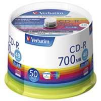 三菱化学 CD-R 700MB SR80FP50V1 50枚(5セット)