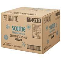 日本製紙クレシア スコッティフラワー2倍巻き S 12ロール×4P(10セット)