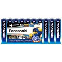 Panasonic 乾電池エボルタネオ単4形 20本 LR03NJ/20SW4549077898975(10セット)