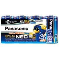 Panasonic 乾電池エボルタネオ単2形 4本入 LR14NJ/4SW4549077898579(10セット)
