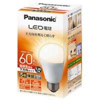 Panasonic LED電球60形 E26 下方向 電球色 LDA7LHEW2 4549980002506(10セット)
