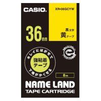 カシオ計算機 ラベルテープXR-36GCYW 黒文字黄テープ36mm4549526602795(10セット)