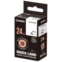 カシオ計算機 ラベルテープXR-24TRWE 黒文字白テープ24mm4549526601743(10セット)