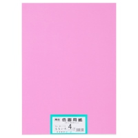 大王製紙 再生色画用紙 4ツ切 100枚 もも(10セット)