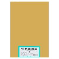 大王製紙 再生色画用紙 8ツ切 100枚 くちばいろ(10セット)