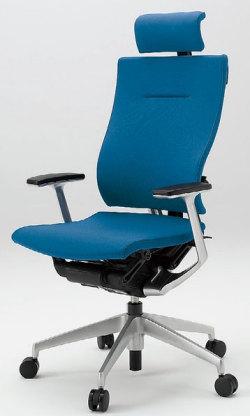 オフィスチェア スピーナチェア ITOKI イトーキ エクストラハイバック クロスバック T型肘付 シルバーメタリック