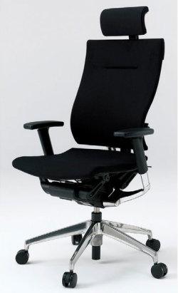 オフィスチェア スピーナチェア ITOKI イトーキ エクストラハイバック クロスバック アジャスタブル肘付 アルミミラー