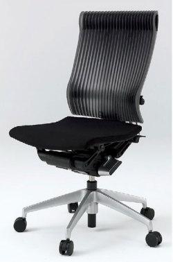 オフィスチェア スピーナチェア ITOKI イトーキ エラストマーバック 肘なし シルバーメタリック