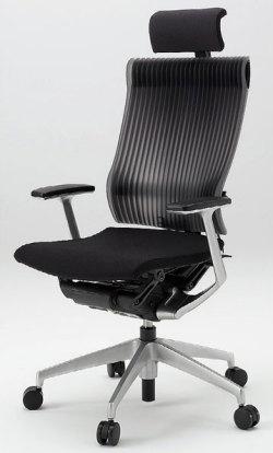 オフィスチェア スピーナチェア ITOKI イトーキ エクストラハイバック エラストマーバック T型肘付 アルミミラー ブラック(10セット)