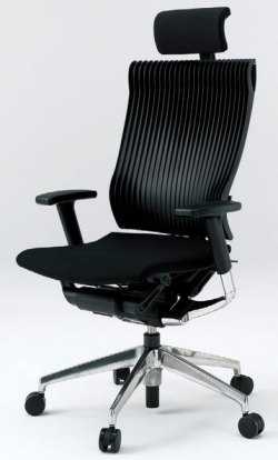 オフィスチェア スピーナチェア ITOKI イトーキ エクストラハイバック エラストマーバック アジャスタブル肘付 アルミミラー ブラック