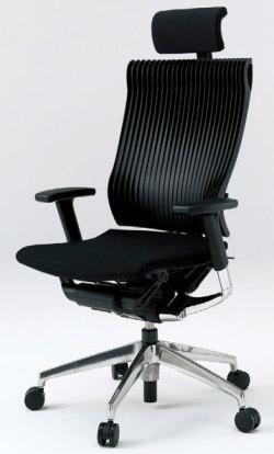 オフィスチェア スピーナチェア ITOKI イトーキ エクストラハイバック エラストマーバック ハンガー付 アルミミラー ブラック(5セット)