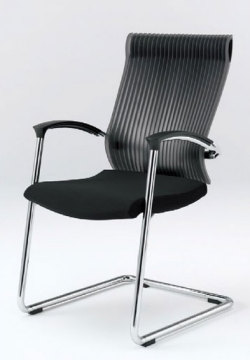 オフィスチェア スピーナチェア ITOKI イトーキ キャンティレバー脚 クロスタイプ エラストマーバック アルミミラー