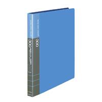 KOKUYO(コクヨ)名刺ホルダー替紙式横入A4台紙15枚300名収容30穴青メイ-335NB (5セット)