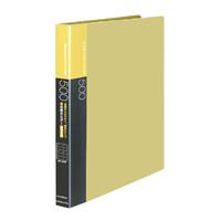KOKUYO(コクヨ)名刺ホルダー替紙式A4縦 30穴500名収容横入黄メイ-F355NY (10セット)