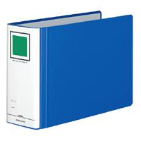 KOKUYO(コクヨ)チューブファイル<エコツインR>A4横 80mmとじ 2穴青フ-RT685B (10セット)